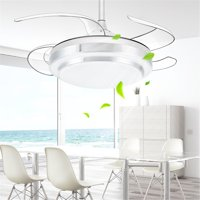 RC Remote Control Ceiling Light Pendant Lamp Stealth Fan Chandelier Home & Living Room Bedroom