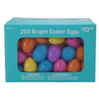 Way to Celebrate Easter Bright Plastic Easter Eggs, 250 Count