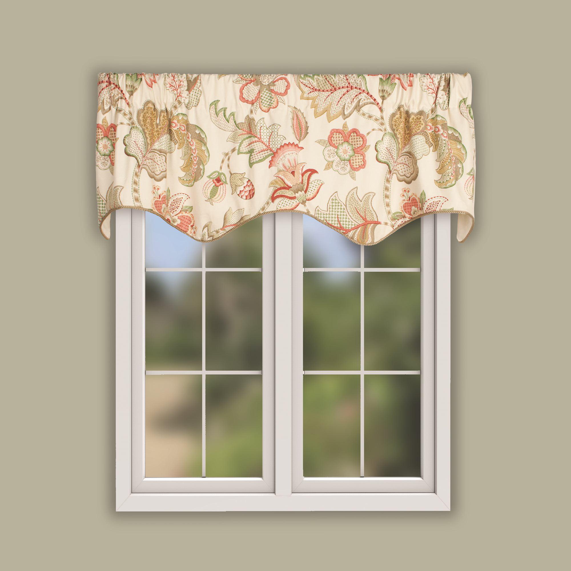 window valance Lined scalloped window valance decorative valance scallop style window curtain