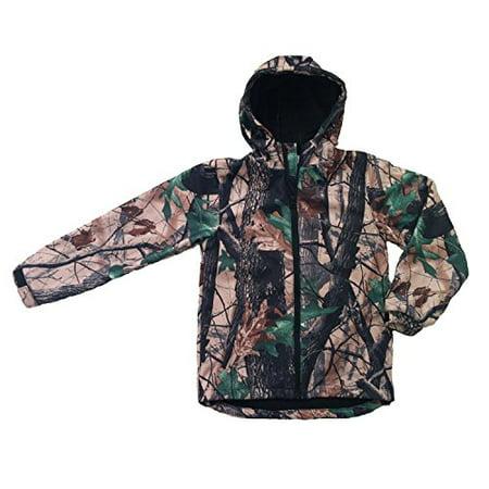 Children's Softshell Waterproof Jacket Camo