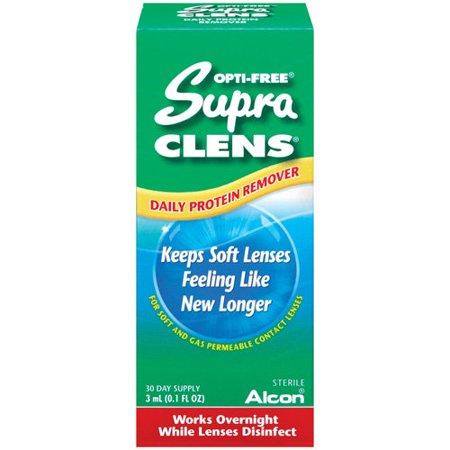 Alcon OPTI-FREE SUPRACLENS Remover quotidien de protéines pour les gla nettoyante pour lentilles cornéennes - 0,1 fl oz