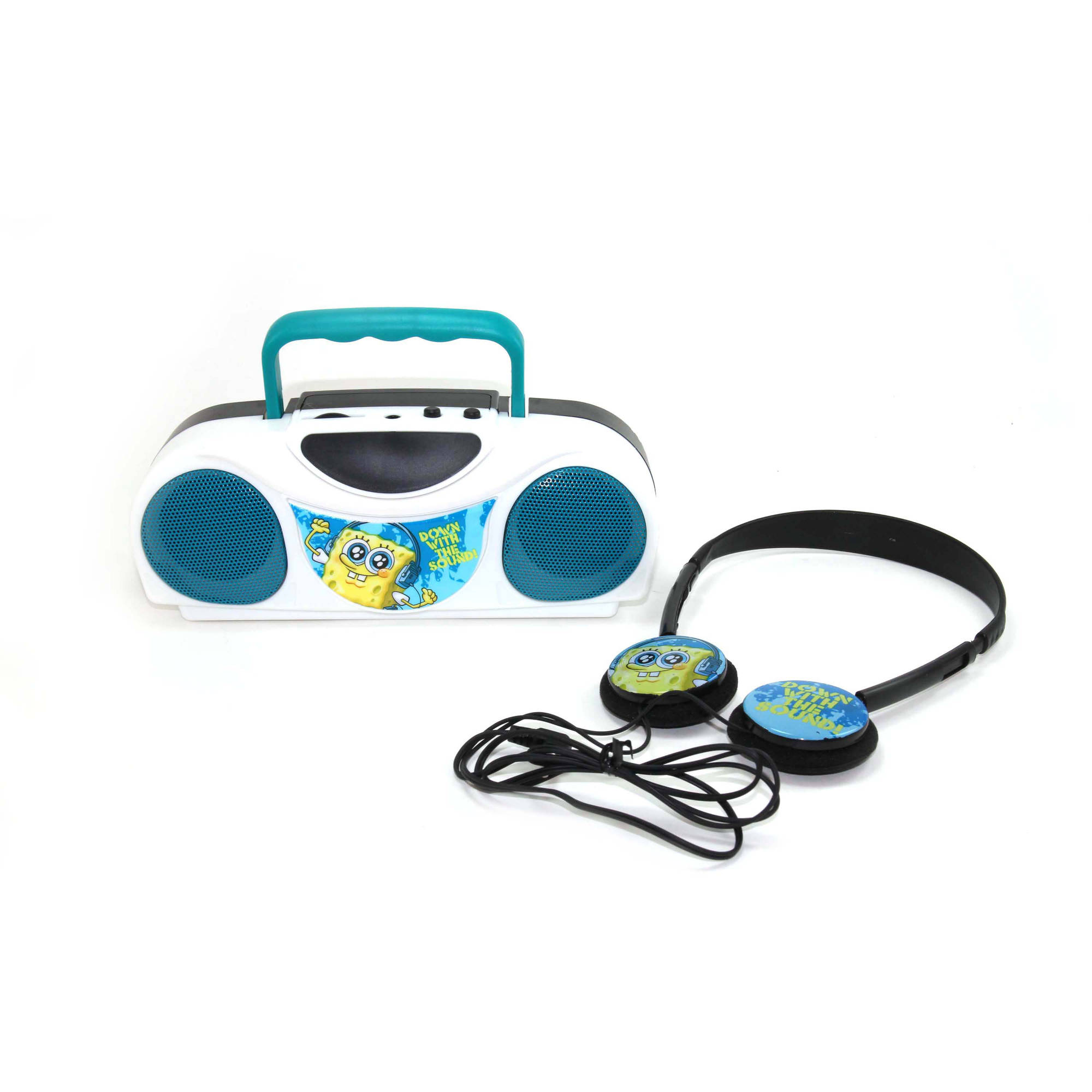 Nickelodeon Spongebob Squarepants Twin Speaker Radio and Headphone Kit