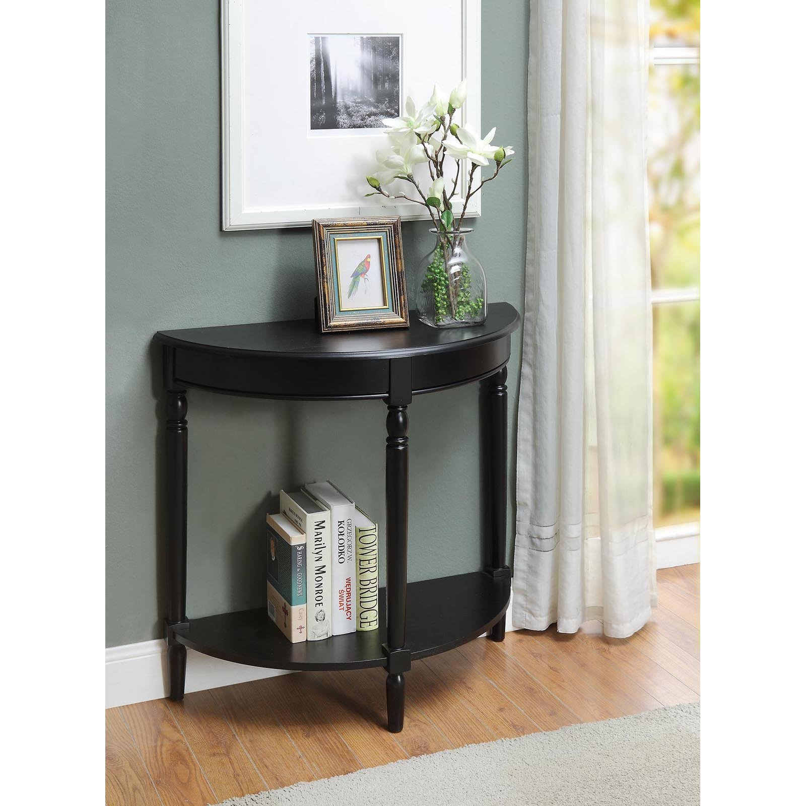 Convenience Concepts French Country Half Moon Hall Table, Multiple finishes
