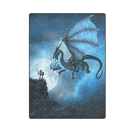 62ecd751aa CADecor Dragon Blanket Throw Super Soft Warm Bed or Couch Blanket 58x80  inches - Walmart.com