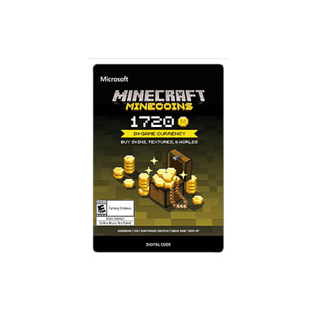 Minecraft Minecoin Pack 1720 Coins, Microsoft, [Digital Download] (Where Is The Download)