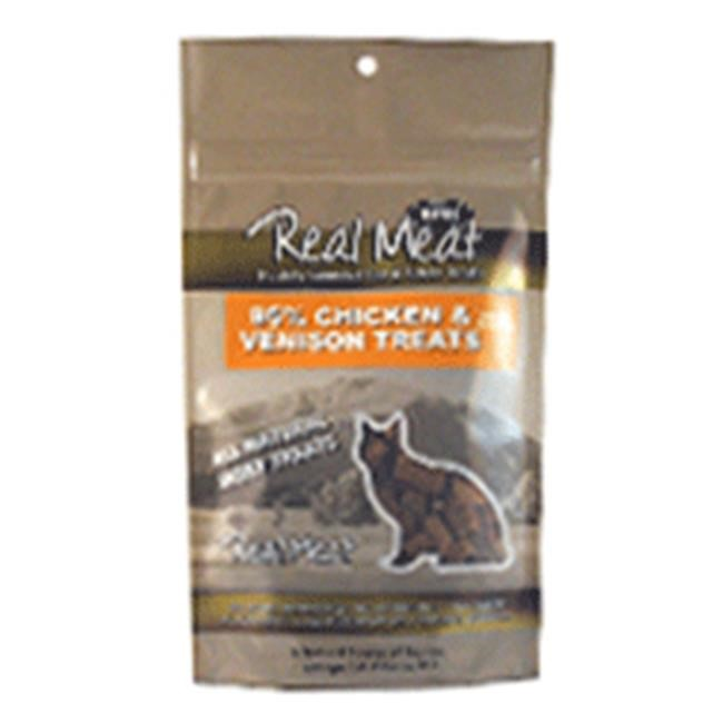 The Real Meat Company 95% Chicken & Venison Jerky Bites Cat Treats, 3-oz bag by The Real Meat Company