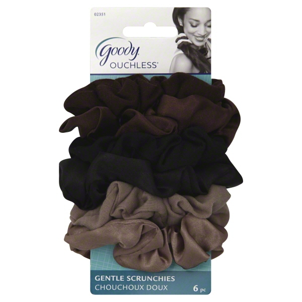 Goody Ouchless Soft Fabric Scrunchies, Starry Nights Colors, 6 count
