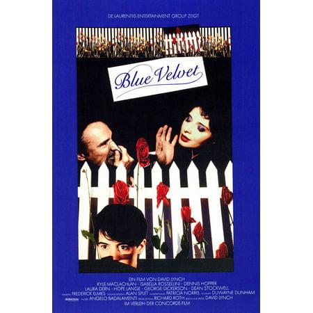 Blue Velvet  1986  11X17 Movie Poster