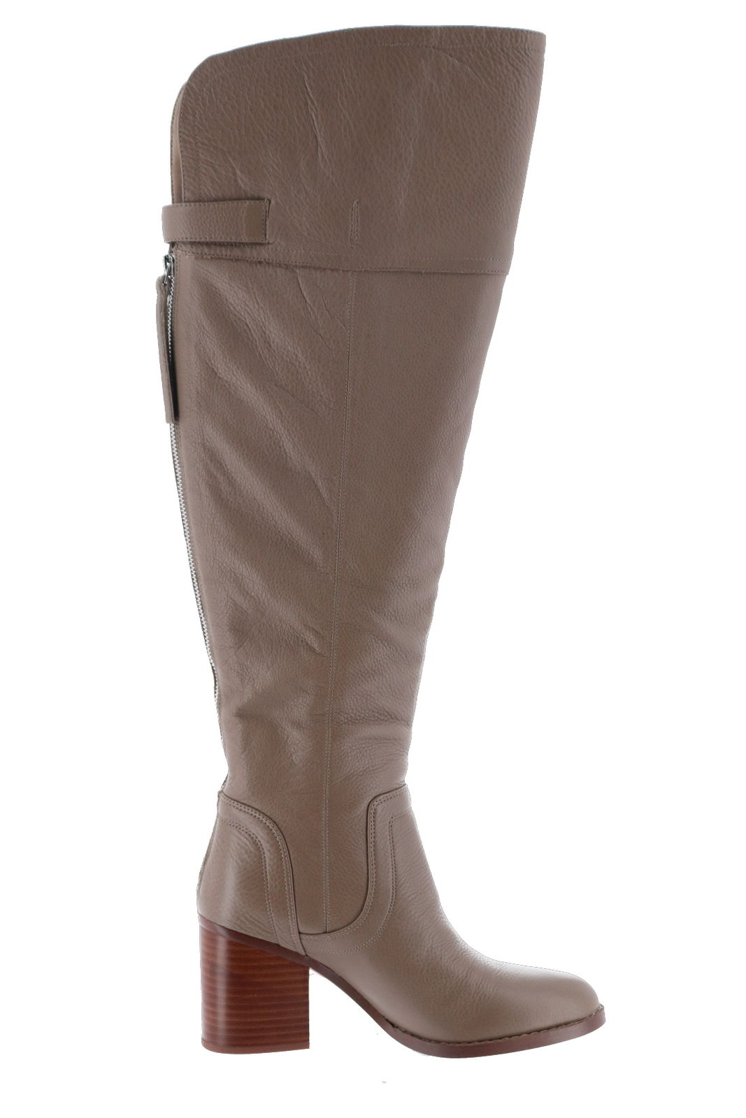 Franco Sarto Wide Calf Leather Over-Knee Boots Ollie A298320 by