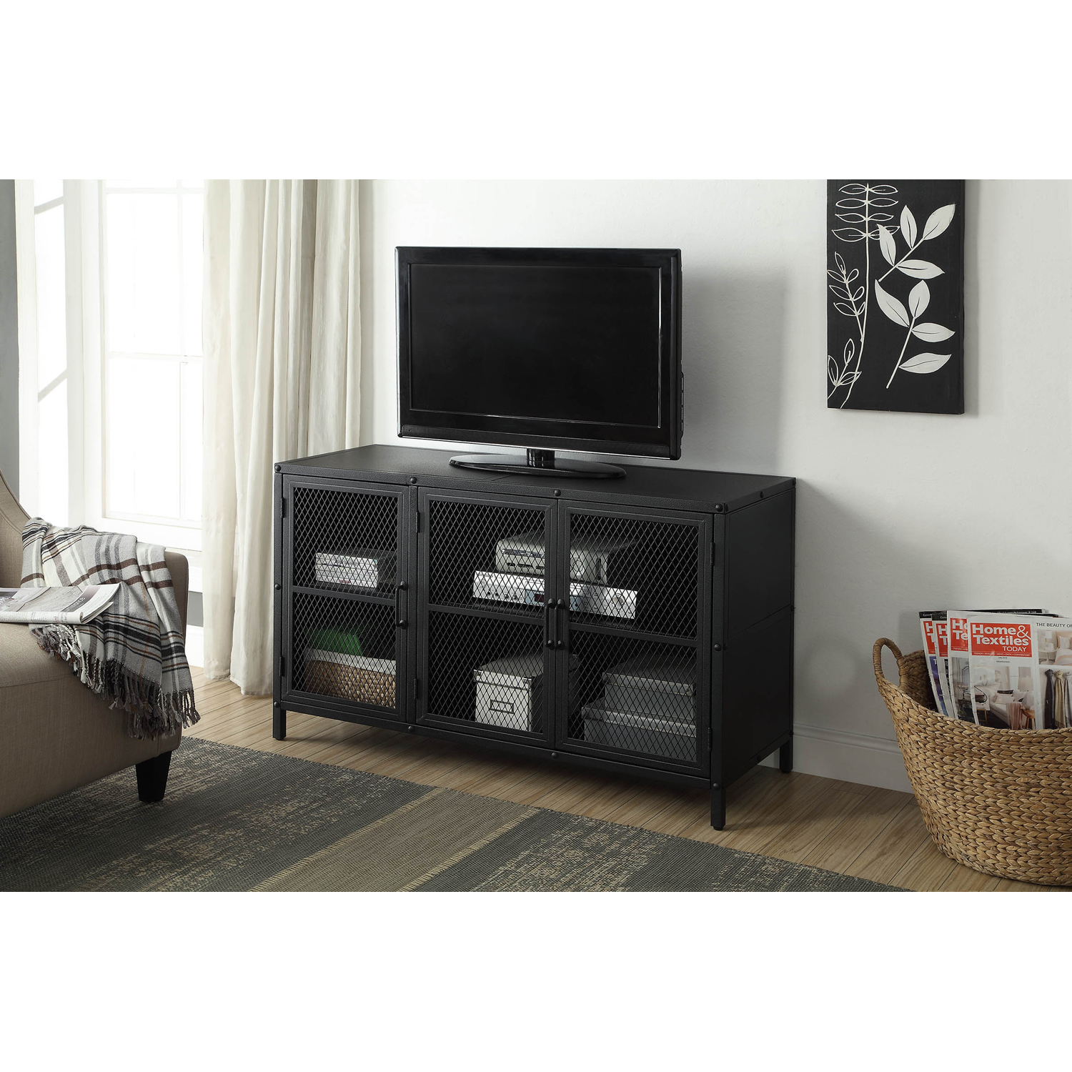 Better Homes & Gardens Industrial TV Stand Cabinet