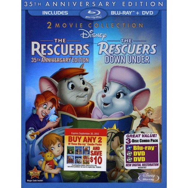 The Rescuers / The Rescuers Down Under (35th Anniversary Edition) (Blu-ray + DVD)