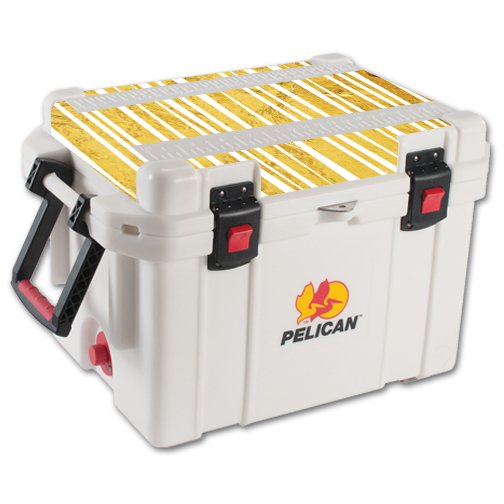 MightySkins Protective Vinyl Skin Decal for Pelican 45 qt Cooler Lid wrap cover sticker skins