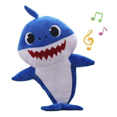 Baby Cute Shark Official Singing Plush Music Sound Cartoon Shark Plush, Adorable Shark Stuffed Animal Plush Toy Gifts for Kids