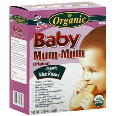 Hot-Kid Baby Mum-Mum Original Flavor Organic Rice Rusks, 1