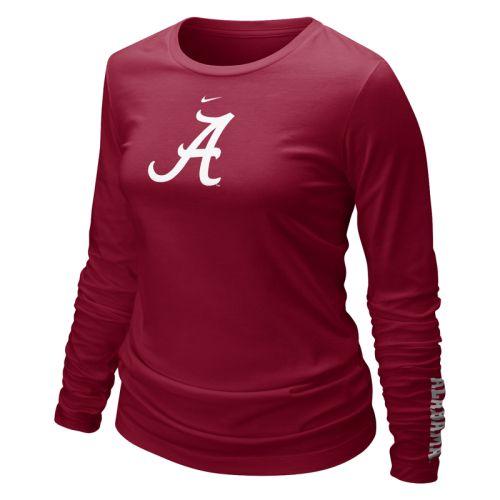 Alabama Crimson Tide Shirt Nike Women's Long Sleeve Logo T Shirt by Nike