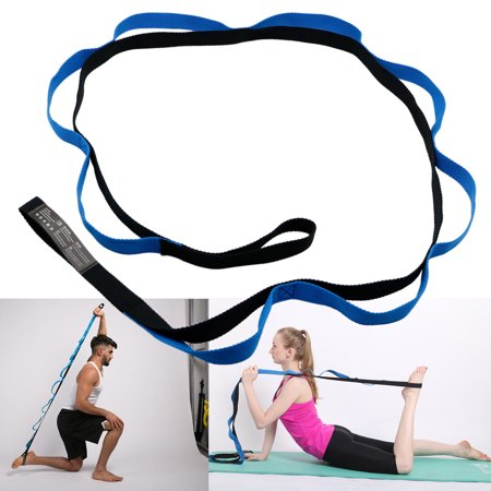 EEEKit Yoga Strap, 10 Fixed Loops Exercise Yoga Stretching Out Strap with Handle for Athletes Dancer, Yoga Enthusiast, Physical Therapy, Muscle Training, Lose