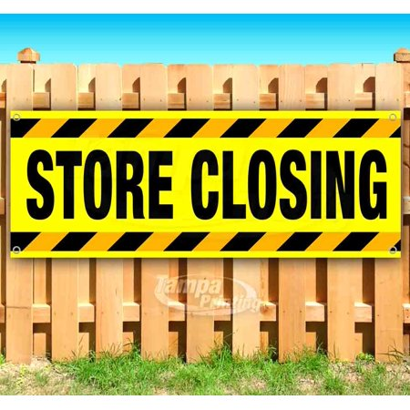 Image of Store Closing 13 oz heavy duty vinyl banner sign with metal grommets, new, store, advertising, flag, (many sizes available)