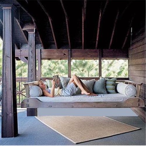 Swing Beds Online 1800-TWN-CYP-DRK-STN 92 inch Dark Stain 1800s Swingbed