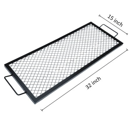 Onlyfire Rectangle X-Marks Fire Pit Cooking Grate, 32-Inch - Onlyfire Rectangle X-Marks Fire Pit Cooking Grate, 32-Inch - Walmart.com