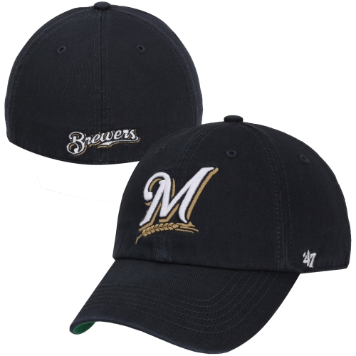 Milwaukee Brewers '47 Home Franchise Fitted Hat - Navy