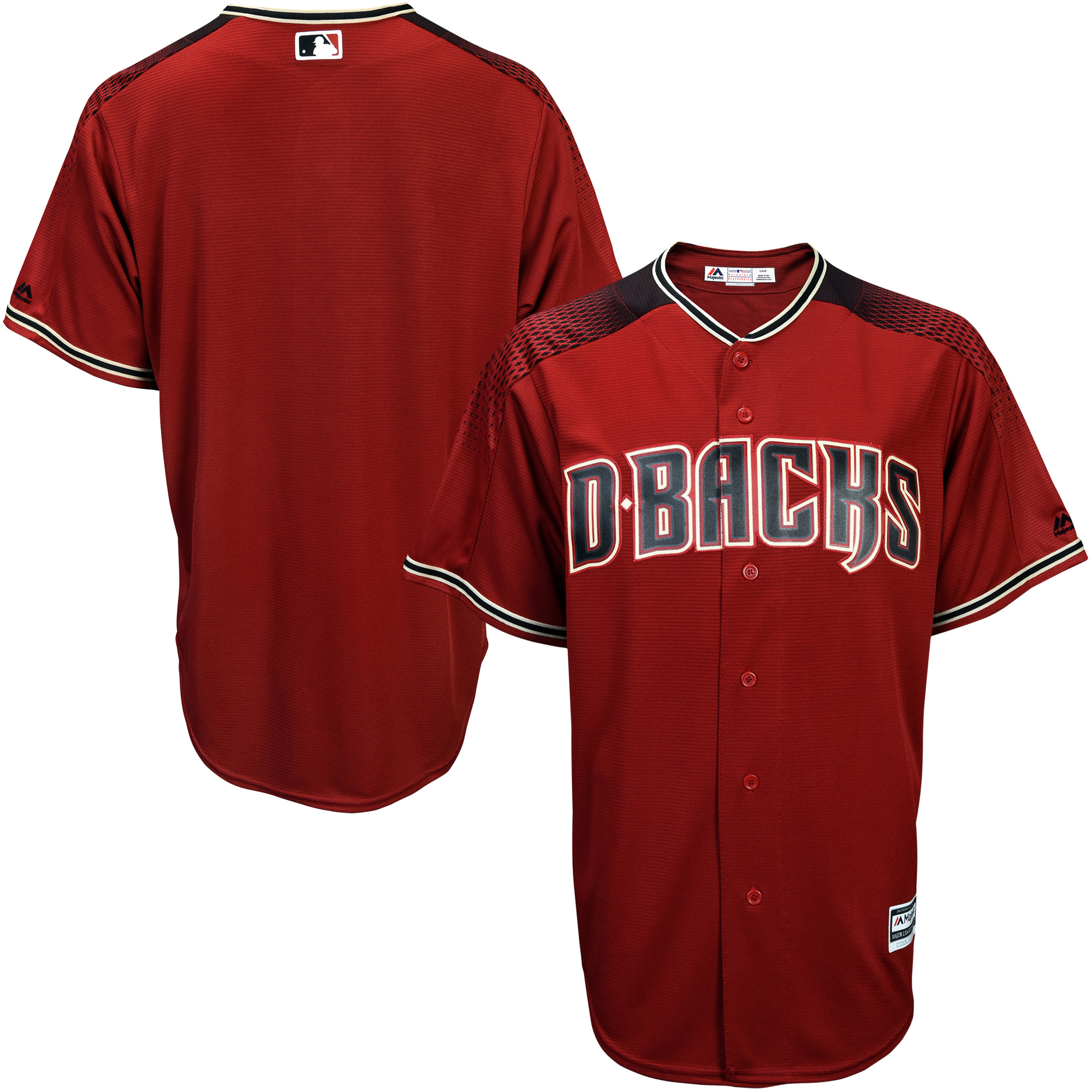 Arizona Diamondbacks Majestic Alternate Youth Offical Cool Base Jersey - Sedona Red