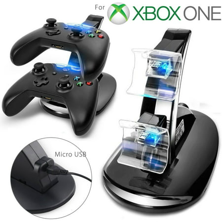 LED Dual Fast Charging Dock Station Charger for Xbox One / Xbox One S Controller - Charging Station Diy