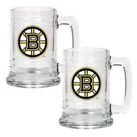 Great American NHL 15 oz. Logo Glass Tankard Set (Nhl Boilermaker Set Glass)