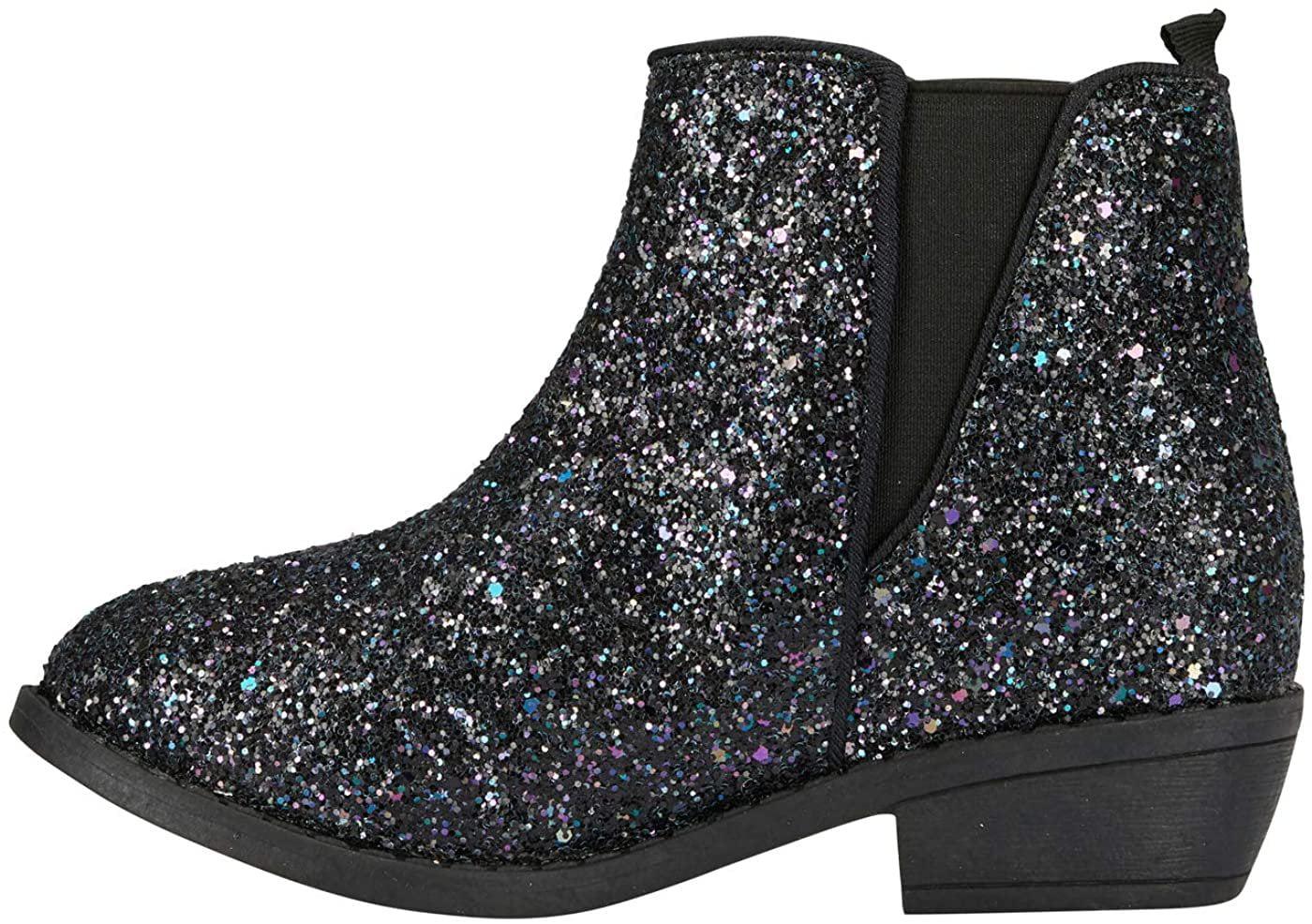 bebe Girls Chunky Glitter Ankle Boots