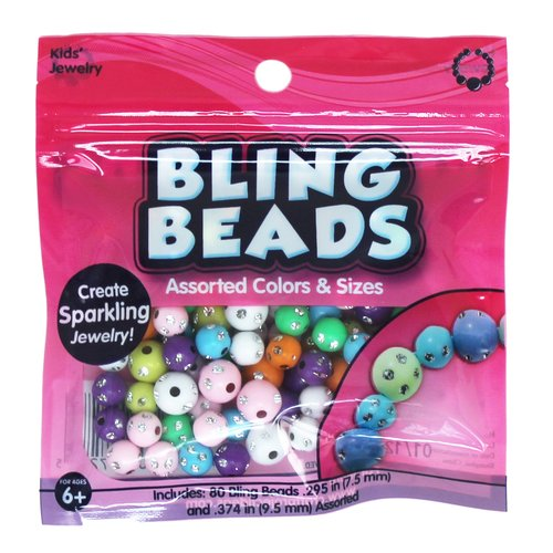 KIDS CRAFT Bling Beads, 80pc