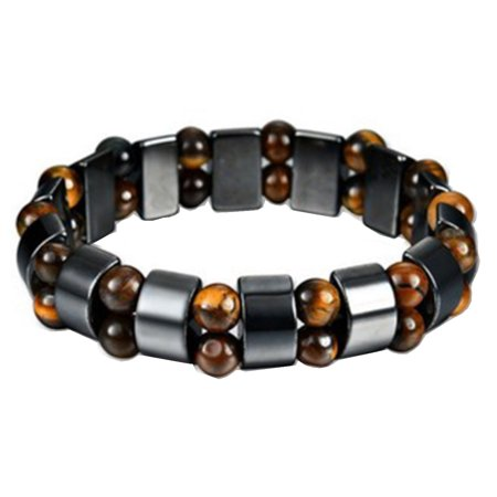 Magnetic Therapy Health Hematite Style Tiger Eye Beaded Bracelets, Je-342-B Cat Eye Hematite Bracelet