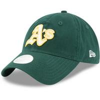 Oakland Athletics New Era Women's Team Glisten 9TWENTY Adjustable Hat - Green - OSFA