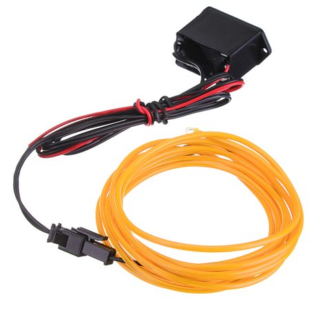 2M 10 Colors 12V Flexible Neon EL Wire Light Dance Party Decor Light ...