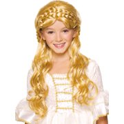 Blonde Long Wig with Braid On Top