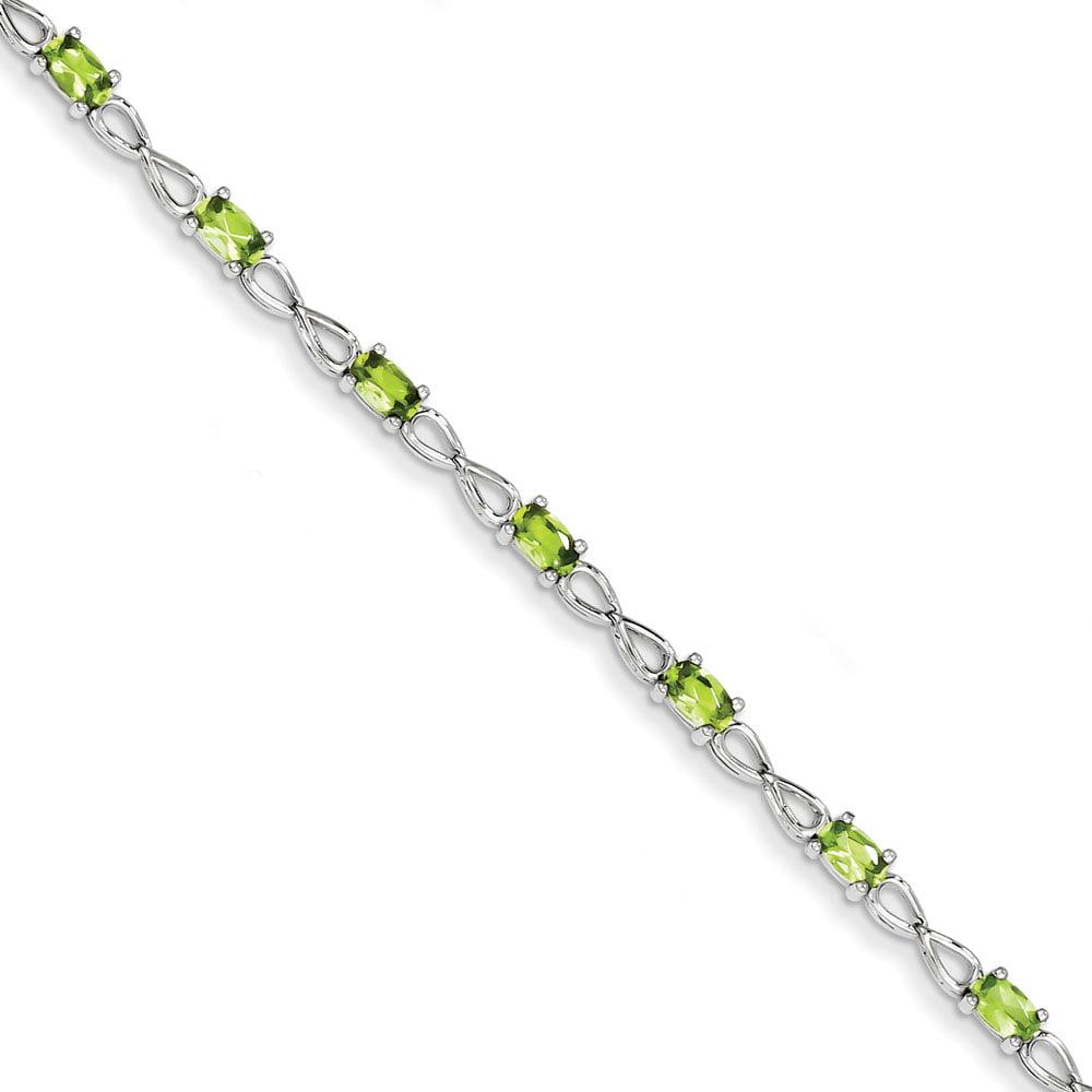 Sterling Silver Peridot Bracelet 2.98 cwt by
