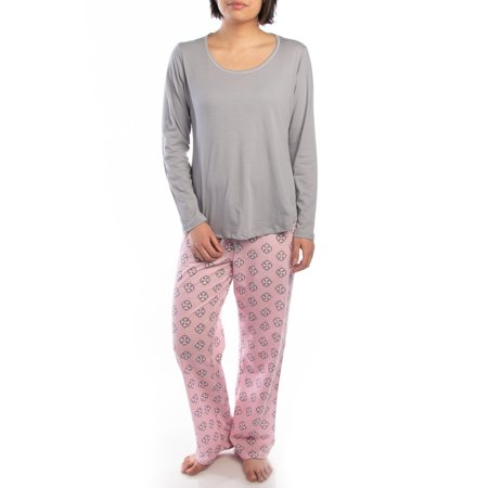 Jockey (2 Piece) Soft Pajama Set For Women Cotton Long Sleeve Shirt Pants Ladies PJs For Teen Girls (Sleep Pants Pjs)