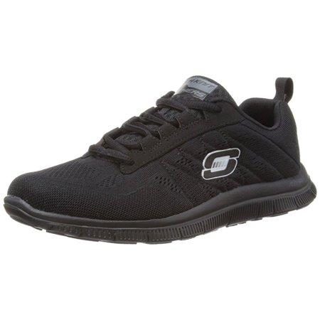 Skechers Sport Women's Sweet Spot Fashion Sneaker Black 8.5 US Wide
