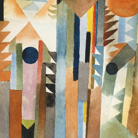 The Forest that Grew from the Seed Watercolor Abstract Landscape Painting Print Wall Art By Paul