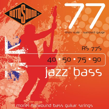 Rotosound RS77S Short Scale Jazz Bass Monel Flat Wound (Best Short Scale Bass Strings)