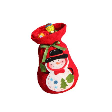 Present Stack (Santa Gift Bag Xmas Treat Sack Bag with Snowman Pattern Christmas Candy Present Socks Christmas)