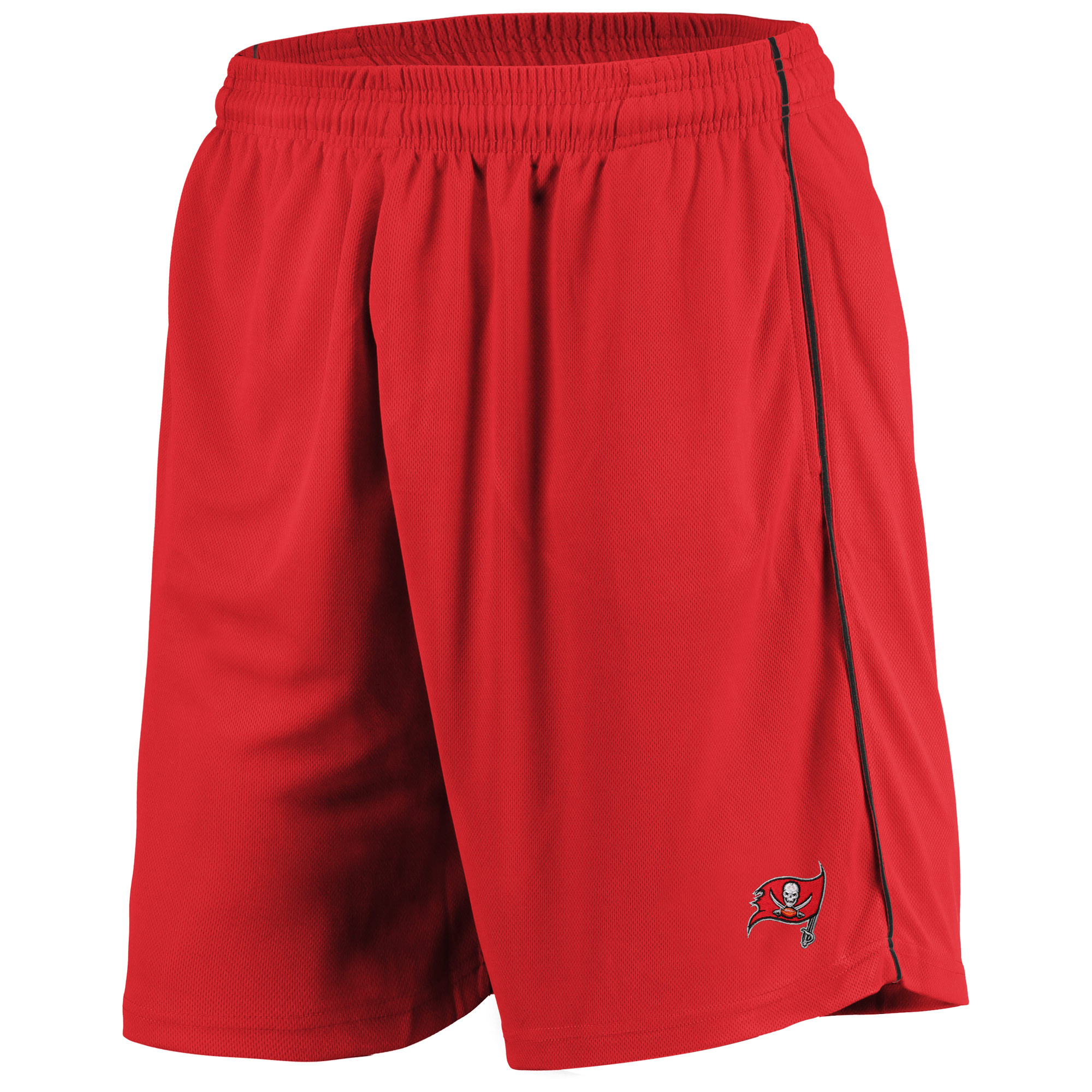 Men's Majestic Red Tampa Bay Buccaneers Mesh Shorts