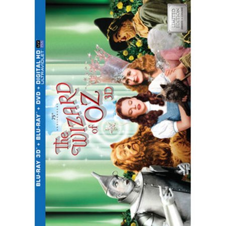 The Wizard Of Oz: 75th Anniversary Collector's Edition (3D Blu-ray + Blu-ray + DVD + Digital HD) (Cat Wizard Of Oz)