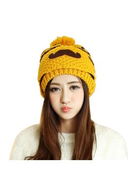 a81b9fa428c Product Image PaZinger Women s Pompom Cap Women Winter Knitted Crochet Beanie  Hat Beard Face Mask Set Snow Ski