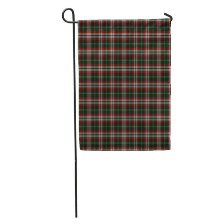 LADDKE Green Ancient Patterned of The Clan Lindsay Hunting Tartan Red Garden Flag Decorative Flag House Banner 28x40 inch