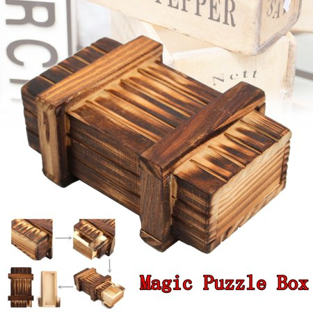Magic Puzzle Box Wooden Secret Mini Compartment Gift Intelligence Brain Teaser](Hard Halloween Brain Teasers)