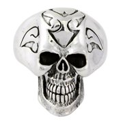 Hellfire Jewelry Sterling Silver H*ll Breed Skull Ring