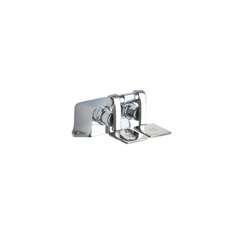Chicago Faucets 625 Floor Mount Double Pedal Slow Closing Valve in Chrome