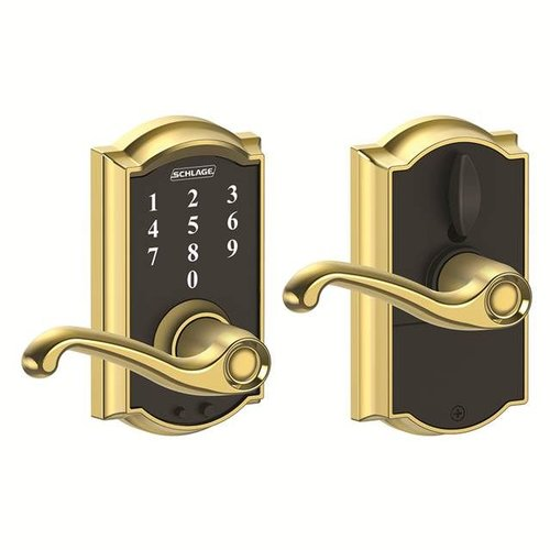 Schlage Touch™ Keyless Touchscreen Flair Lever with Camelot Trim