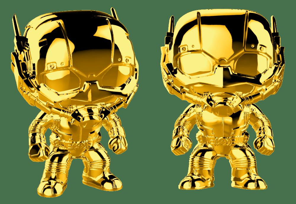 Bundled Protector Funko Marvel Studios 10 Ant-Man Gold Chrome POP