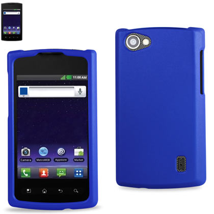 Rubberized Protector Cover Lg Optimus M+ Ms695 Navy