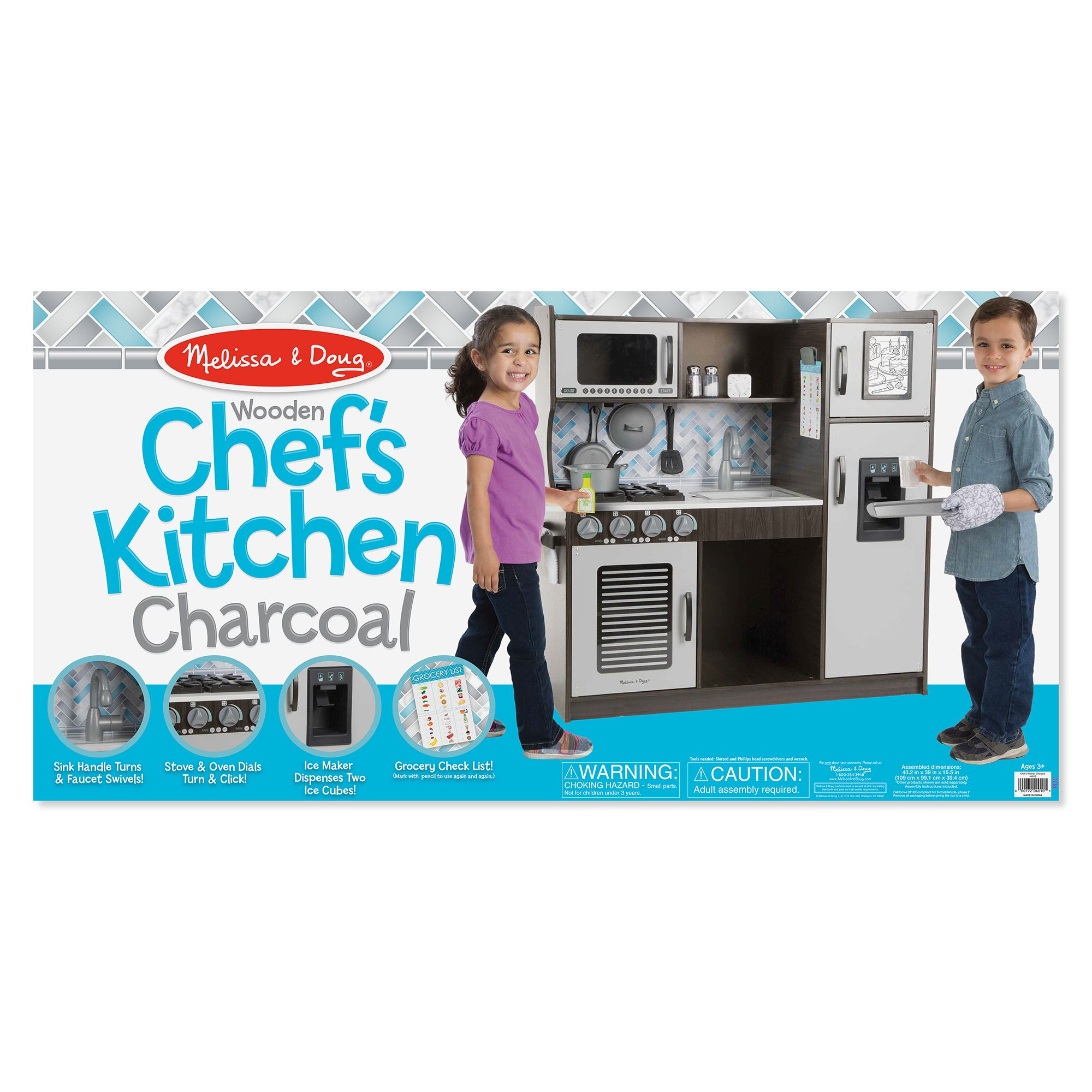 Melissa & Doug Chef\'s Kitchen Pretend Play Set - Charcoal ...